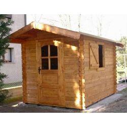 Casetta in legno ad incastro 200x200 porta singola e finestra