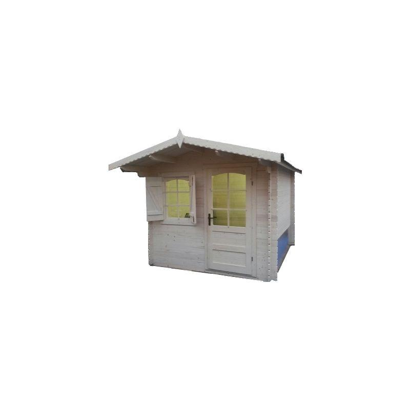Casetta in legno ad incastro 385x385 porta singola e - Casetta in legno con bagno ...
