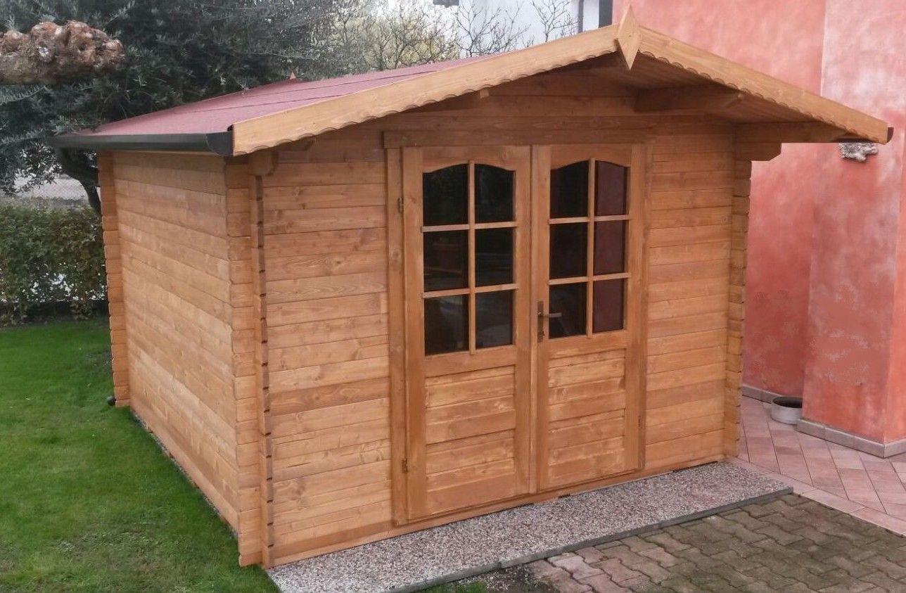 Casette da giardino in legno con tetto ad una falda ricovero attrezzi
