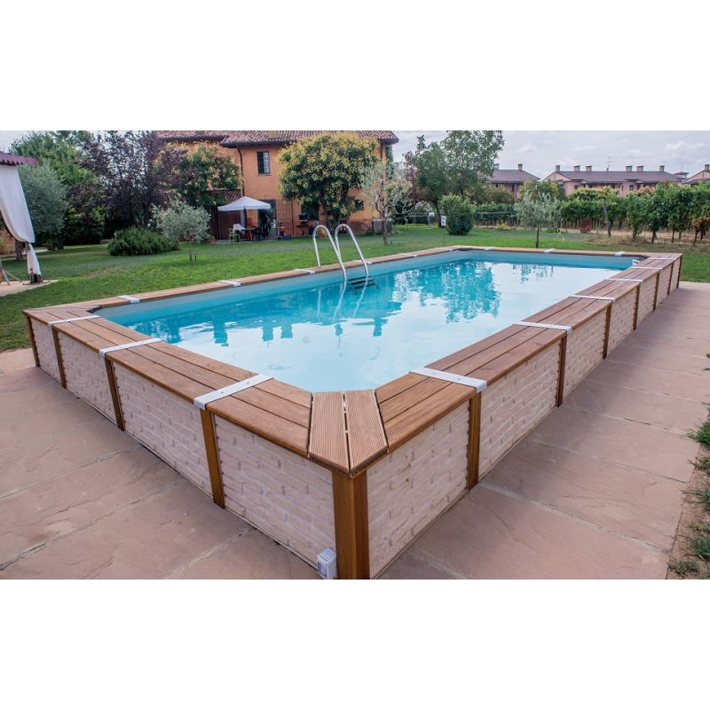 Assez Awesome Rivestimento Piscina Fuori Terra Contemporary - Skilifts  BO05