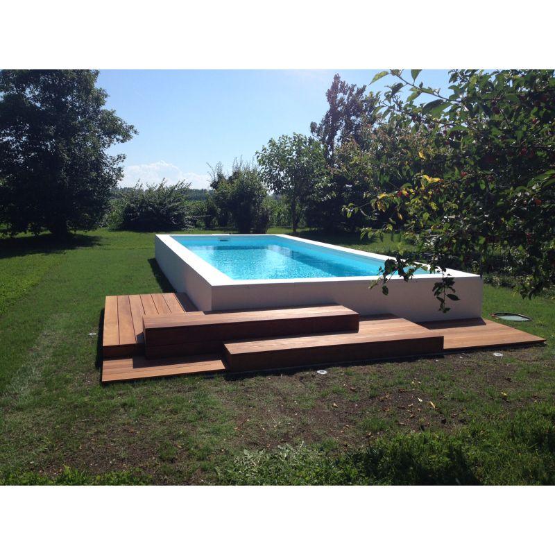 Piscina in polipropilene con locale tecnico integrato - Prezzo piscina interrata ...