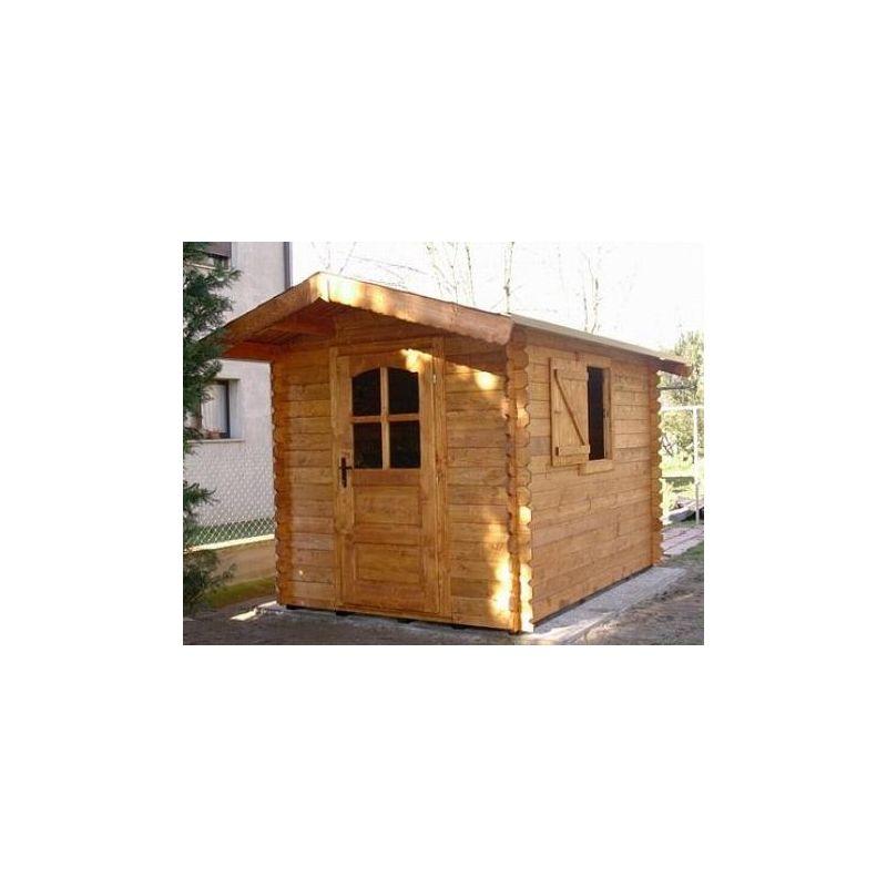 Casetta in legno ad incastro 200x250 porta singola e - Casetta in legno con bagno ...