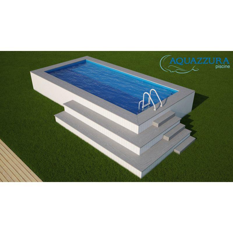 Piscina fuori terra rivestita in wpc personalizzata - Misure piscine fuori terra ...