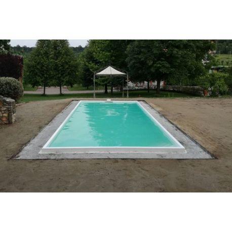 Piscina in polipropilene interrata 380x840x150h con locale - Locale tecnico piscina ...