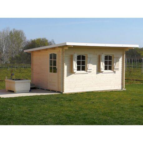 Casetta in legno misura cm 385x300 con tetto ad una falda