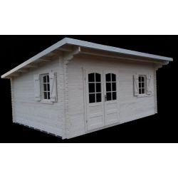 Casette in legno con tetto ad una falda