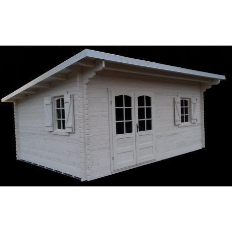 Casette in legno a cubo con tetto ad una falda