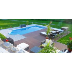 Piscina interrata 380x820xh150 cm con scala romana