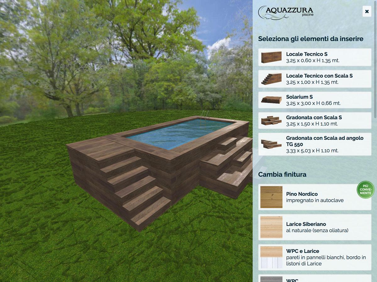 Acqua Azzurra Piscine aquazzura piscine - configuratore piscina esterna rivestita
