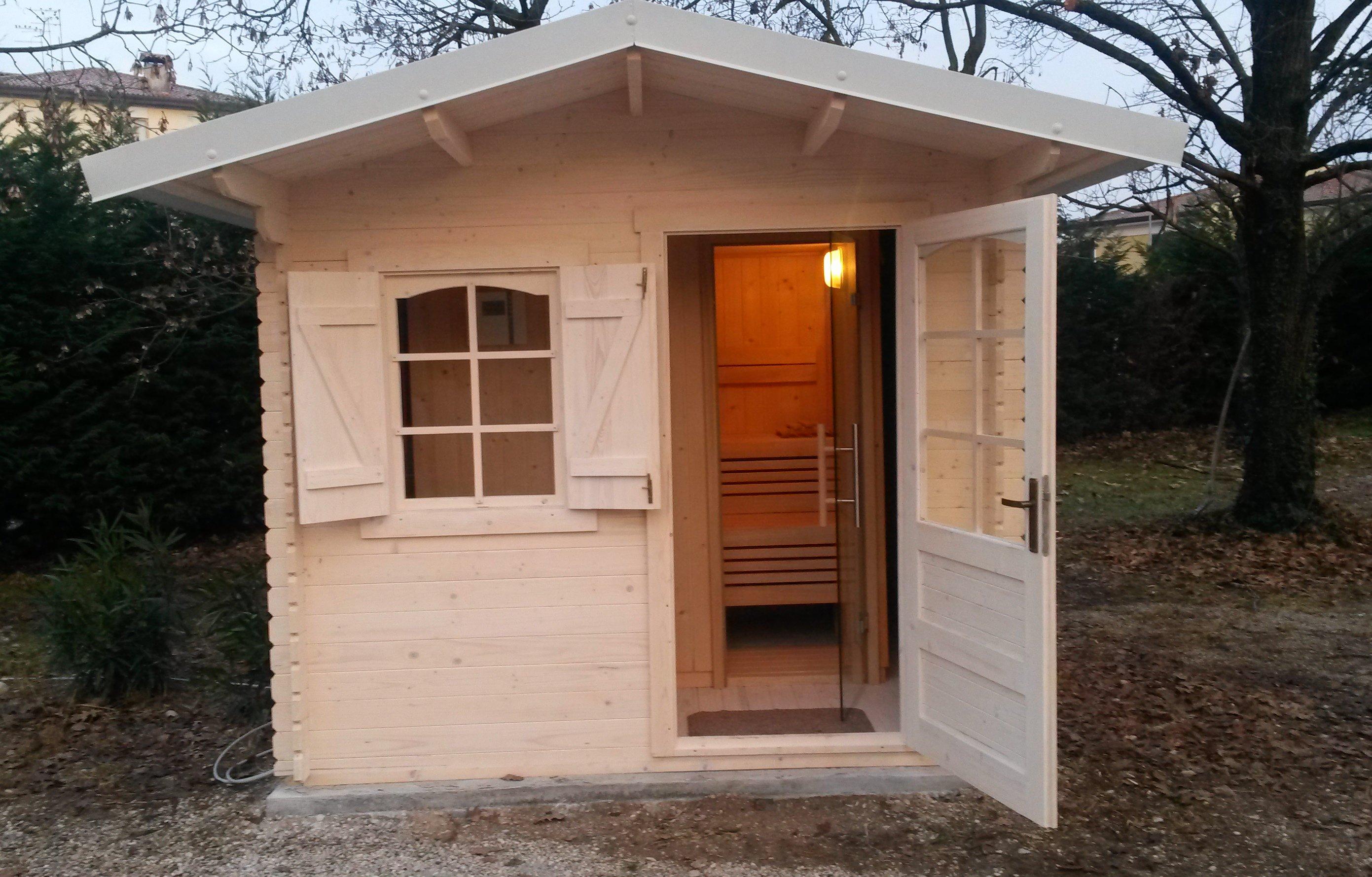 Casetta Con Sauna Accessori Per Piscine