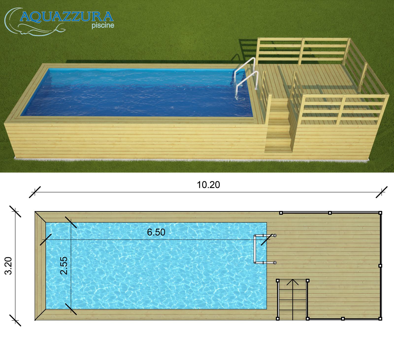Soppalco In Legno Per Esterno piscina fuori terra con soppalco rivestita in legno di abete