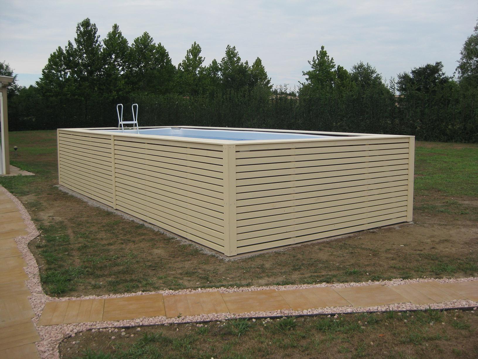 Piscine Da Esterno Rivestite In Legno piscina fuori terra con rivestimento in legno di abete prezzi